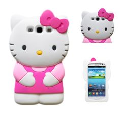 Authentic 3d Hello Kitty Samsung Galaxy S3 I9300 TPU Soft Case Cover- Light Pink/ Hot Pink:Amazon:Cell Phones & Accessories
