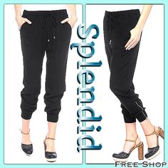New Arrivals from Splendid!! We Love the zipper detail at the ankle of these pants and how Comfortable they are. Perfect for Day or Night!!