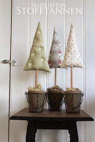 ✰ genähte Bäumchen * DIY * sewed small christmas Advent Deko sus Stoffresten auch für Kinder Bastelei