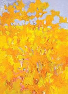 Magnificent Yellow. by Wolf Kahn.....idea for ginkgo tree