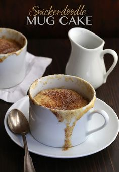 Snickerdoodle Mug Cake via @dreamaboutfood