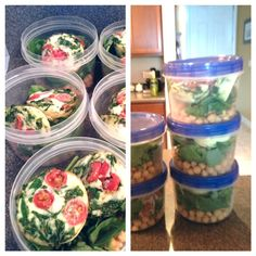 egg white and spinach breakfast idea for meal planning