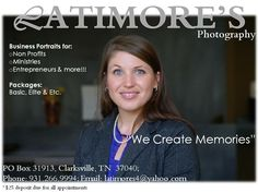Portraits by Latimore's for Engagement Photos, modeling, acting, singing and more For More Information contact 931.266.9994 or latimores4@yahoo.com