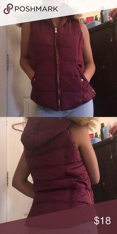 Purple Bubble Vest Never worn. Price negotiable . NWOT BONGO Jackets & Coats Vests