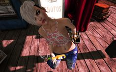 """Just being myself !!! :: B O D Y :: Hair – no.match_ ~ NO_MATTER ~""""Cosmopolitan Events"""" :: C L O T H I N G :: Top – N-Uno – Marta Top // N-8Shiny Shabby Jeans – N-Uno &#82…"""