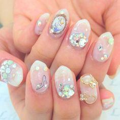Bridal manicure. Cinderella bride #nailbook