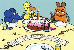 Postkarte - Die Maus Alles Gute zum Geburtstag! Postkarten Die Maus