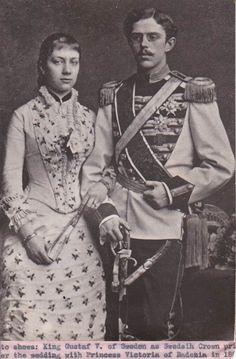 Royalty Engagement King Gustaf V Princess Victoria of Baden Pressphoto | eBay