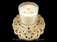 SLD510 - Duchess Damask Candle Tray