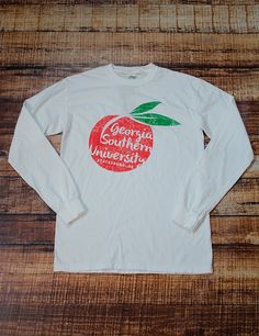 Everybody loves a Georgia Peach! Show YOUR love for the great state of Georgia and the Best school, Georgia Southern University, in this new GSU Peach t-shirt!