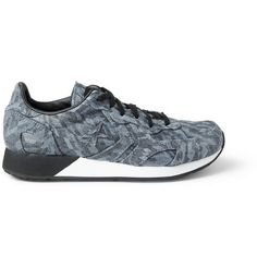 Converse Auckland Racer Leather-Trimmed Patterned Sneakers  | MR PORTER