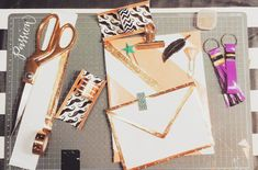 Office Accessoires with Duck Tape, Masking Tape and upcycling papers