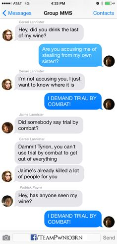 Game of Thrones Texts from Westeros