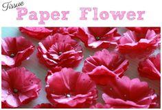 Tissue Paper Flower tutorial by Summer Scraps