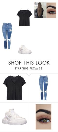 """Untitled #637"" by melissaperez427 on Polyvore featuring Deby Debo, Topshop and NIKE"