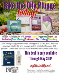 AMAZING 3 piece gift when you purchase a Young Living Premium Starter Kit | MyBlessedLife.net