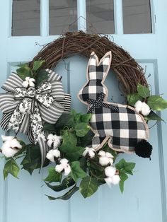 Easter Wreaths, Holiday Wreaths, Holiday Crafts, Diy Wreath, Grapevine Wreath, White Wreath, Outdoor Wreaths, Diy Ostern, Idee Diy