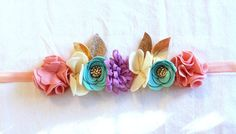 Felt Flower Crown // Mini Crown // Blush Mint by fancyfreefinery