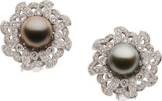 South Sea Cultured Pearl, Diamond, White Gold Earrings. ... Estate | Lot #58274 | Heritage Auctions