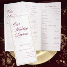 Blank programs to print Sikh Wedding, Wedding Reception, Wedding Ideas, Printable Wedding Programs, Free Printables, Dream Wedding, Templates, Personalized Items, Words