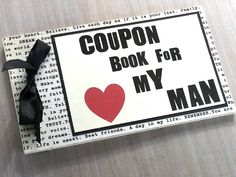 LOVE Coupons for Husband Boyfriend Friend. by littlebluemarket at littlebluemarket.etsy.com