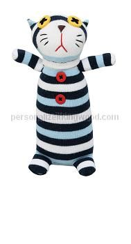 "Sock Animal - Griffin. Whimsical and cute, these handmade sock dolls are sure to become instant favorites!   Size : d3"" w6"" h9"""