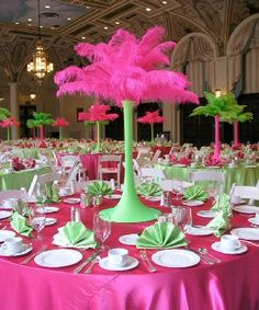 Ostrich feathers  Centerpieces -