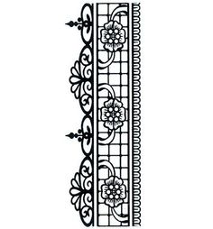 Creative Expressions Henna Floral Border Cling Stamp (UMS064)