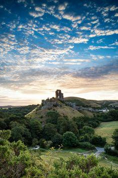 Old medieval castle ruins in vibrant Summer sunrise landscape im by Matt Gibson / 500px