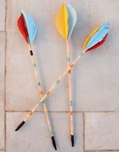Fine Fletched Arrows are a fascinating way to teach kids about Native American cultures and the tools used by our ancestors. Kids will learn how to make these crafts for kids from cultural and history lessons, and then they can fashion a bow to go with the arrows. Play and learn as Robin Hood, Native Americans, Roman soldiers and more!