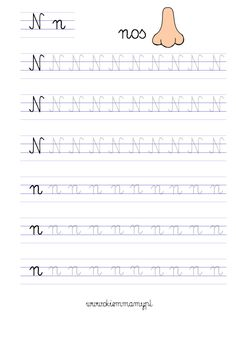 karty do nauki liter Cursive Small Letters, Learn French, Pre School, Handwriting, Hand Lettering, Classroom, Education, Learning, Kids