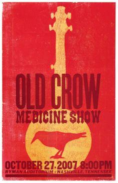 old crow medicine show | concert poster