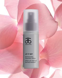 Did you know? The NEW Let It Set Refreshing Finishing Spray features a beautiful blend of rose and geranium essence waters to provide an instant boost of hydration so that even as it works hard to set your makeup in place, it's doing it without stripping your skin of essential moisture. #Arbonne #ArbonneMakeup #Vegan #GlutenFree #VeganMakeup