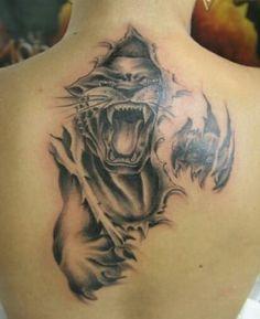 fotos de tatuajes de panteras en la espalda Lion Head Tattoos, Leo Tattoos, Mini Tattoos, Animal Tattoos, Black Tattoos, Body Art Tattoos, Tatoos, Full Hand Tattoo, Full Back Tattoos