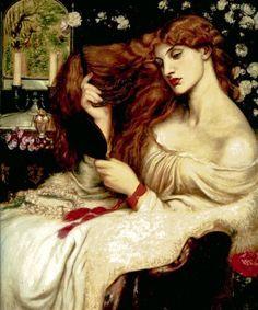 Lilith di Dante Gabriel Rossetti 1868