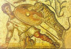Mosaico romano de la Villa Romana de La Cueza-Palencia  España