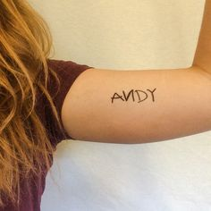 "You've got a friend in me Adorable ""Andy"" temporary tattoo. Just like Buzz and Woody! Easy Application, Lasts 2-5 Days"