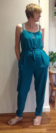 Jumpsuit toile made from woven viscose, per metre Rolls n Rems . Dressmaking, Jumpsuit, Textiles, Sewing, Dresses, Fashion, Canvas, Sew Dress, Overalls