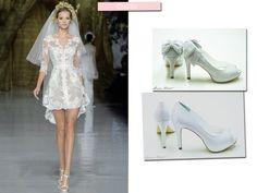 Como combinar o vestido de noiva com o sapato