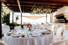 White wedding dinner at Panorama Villa Wedding Dinner, Luxury Villa, Villas, Table Settings, Weddings, Table Decorations, Home Decor, Luxury Condo, Decoration Home