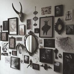 Inspiration wall. Down stairs hallway.