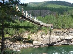 This Terrifying Swinging Bridge In Montana Will Make Your Stomach Drop