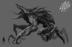Character and Monster Designs i made in 2015 for a Gameloft mobile game : Kaiju Hunter. The project was finally canceled. Art Director : Pascal Barret Thanks to all the team for the great work we made back then ! All rights reserved to Gameloft Games © Monster Concept Art, Fantasy Monster, Monster Art, Mythical Creatures Art, Alien Creatures, Fantasy Creatures, Creature Concept Art, Creature Design, Dark Fantasy Art
