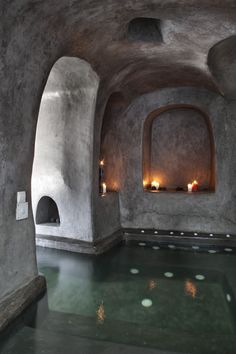 Andronis Indoor Pool Cave in Oia Santorini, Greece