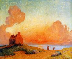 The Athenaeum - Sunset by the Sea, Brittany (Ferdinand du Puigaudeau - )