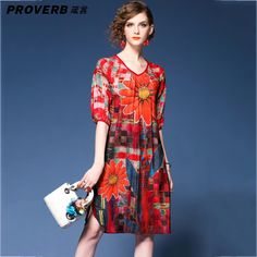 6b6aee8907 PROVERB Casual Floral Print Dress Women V Neck Knee-length Sexy Women Boho  vestido Summer Style Beach Wear Bohemia Desses