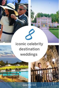 Lonely Planet runs down the most amazing celebrity destination weddings around the world, to give you all the inspiration you need to plan a destination wedding of your own! Best Honeymoon Destinations, Travel Destinations, Italian Villa, Destination Weddings, Romantic Travel, Lonely Planet, Planets, Cruise, Around The Worlds
