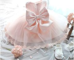 "Pre-order: The ""Reina"" Pink Lace Dress Flower Girl Party Dress"