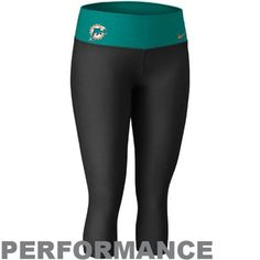 6387485805c8 Nike Miami Dolphins Women s Dri-FIT Legend Performance Capri Pants - Black  Aqua