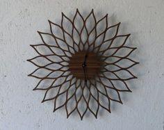 Mid Century Modern Inspired Clock-Lotus